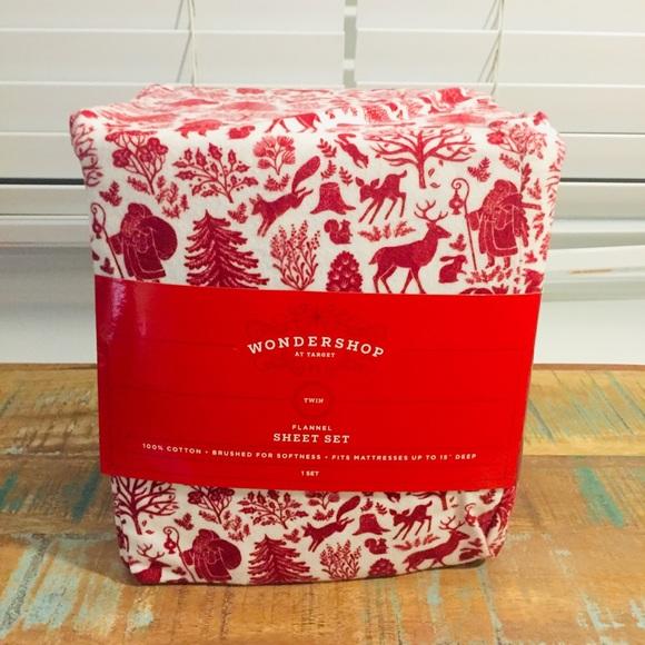Target Bedding New Target Wondershop Flannel Sheet Set Twin Poshmark